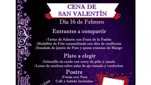 Cena de San Valentín (16 de Febrero) 2 personas por 49,90 €
