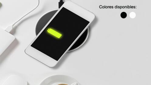 Base cargador inalámbrico 2 colores