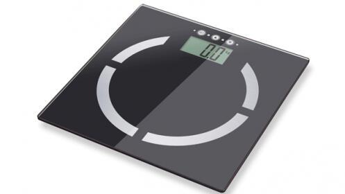 Báscula de baño con medición de índice de masa corporal (IMC)